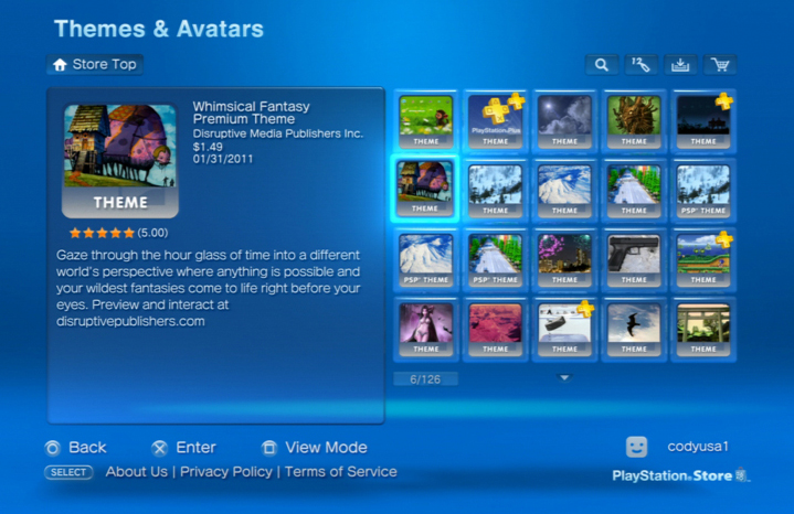 PS3 Theme Launched  | Stargaser Blog